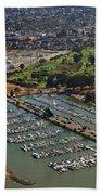 Coyote Point Marina San Francisco Bay Sfo California Bath Towel
