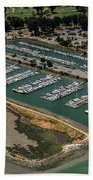 Coyote Point Yacht Club In San Mateo, California Hand Towel
