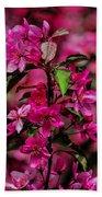 Crabapple Tree Blossoms Bath Towel
