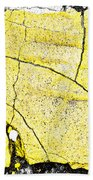 Cracked Yellow Paint Bath Towel