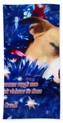 Cradled By A Blanket Of Stars And Stripes - Quote Bath Towel