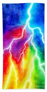 Rainbow Color Lightning Bath Towel