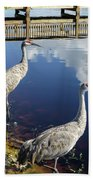 Cranes At The Lake Bath Towel