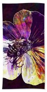 Cranesbill Flower Close Bee Insect  Bath Towel