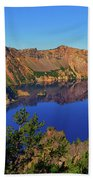 Crater Lake Morning Reflections Bath Towel