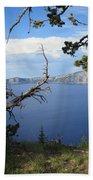 Crater Lake Perspective Bath Towel