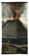 Crater Of Mount Vesuvius, Before 1767 Bath Towel