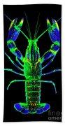 Crawfish In The Dark - Bluegreen Bath Towel