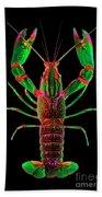 Crawfish In The Dark - Greenred Bath Towel