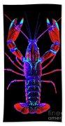 Crawfish In The Dark-  Redblue Bath Towel