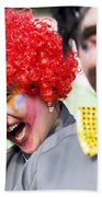 Crazy Circus Clowns Bath Towel