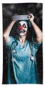 Crazy Doctor Clown Laughing In Rain Bath Towel