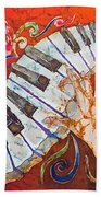 Crazy Fingers - Piano Keyboard  Hand Towel