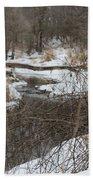 Creek Winding Through The Snow Bath Towel