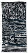 Creepy Cabin In The Woods Bath Towel