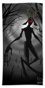 Creepy Nightmare Waiting In The Dark Forest Bath Towel