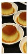 Creme Caramel Dessert Bath Towel
