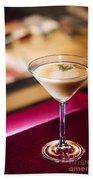 Creme Caramel Martini Cocktail In Bar Bath Towel