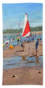 Cricket And Red And White Sail Bath Towel