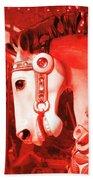 Crimson Carousel Quote Bath Sheet