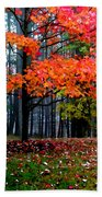 Crimson Tree Bath Towel