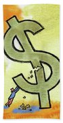 Crisis And Money Hand Towel