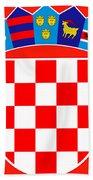 Croatia Coat Of Arms Bath Towel