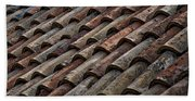 Croatian Roof Tiles Bath Towel