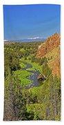 Crooked River And Mt Hood Oregon Bath Towel