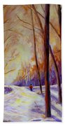 Cross Country Sking St. Agathe Quebec Bath Towel