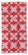 Cross Cross Diamonds Spice- Art By Linda Woods Bath Towel by Linda Woods
