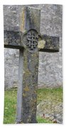 Cross Tombstone St. Mary's Wedmore Bath Towel