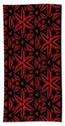 Crossing The Line Abstract  Bath Towel