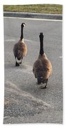 Crossing The Street Bath Towel