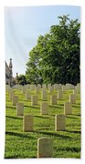 Crown Hill National Cemetery, Indianapolis, Indiana Bath Towel