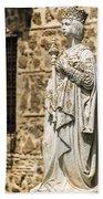 Crowned Statue - Toledo Spain Bath Towel