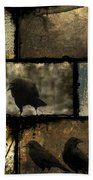 Crows And One Rabbit Bath Towel