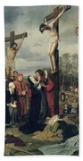 Crucifixion Bath Towel