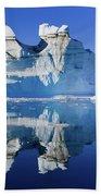 Cruising Between The Icebergs, Greenland Bath Towel