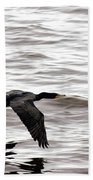 Cruising Cormorant Bath Towel