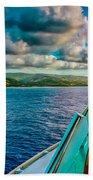 Cruising Hispaniola Bath Towel