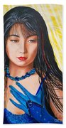Crystal Blue China Girl            From   The Attitude Girls  Bath Towel