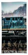 Cs X  Ge Engine 3046 On Trestle Bath Towel