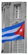 Cuban Flag Bath Towel
