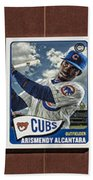 Cubs Card Collection Bath Towel