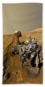 Curiosity Self-portrait At Windjana Drilling Site Bath Towel