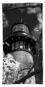 Currituck Beach Lighthouse In Infrared Hand Towel