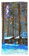 Curry Cabins Christmas Day Bath Towel