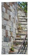 Curved Stone Staircase 235 Bath Towel