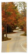 Curvy Fall Hand Towel